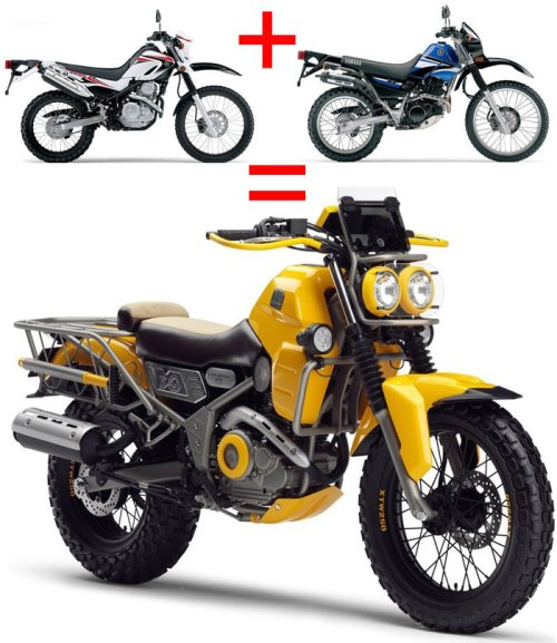 Yamaha-XT250+TX225=XTW250