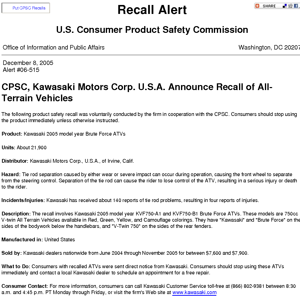 product recall information essay Information from the us department of agriculture, food safety and  johnson- hall t essays on product recall strategies and effectiveness in the fda.