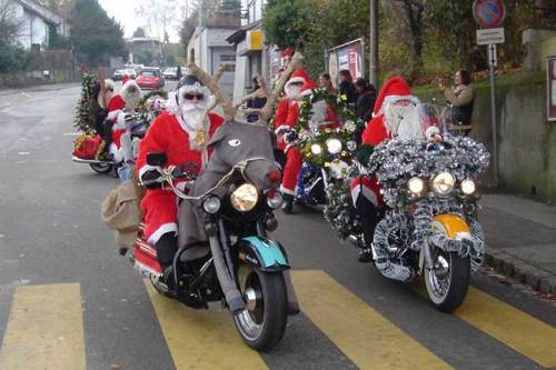 Santa-on-a-Harley