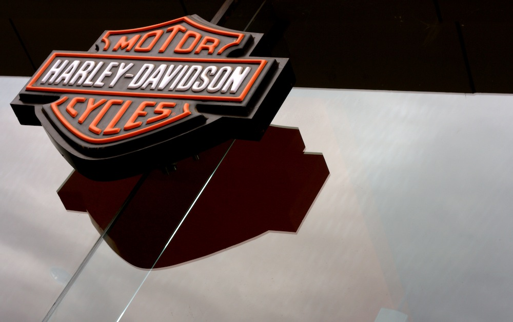 harley davidson showroom door