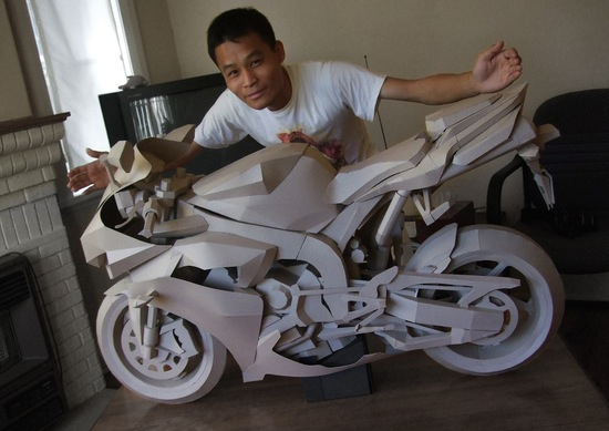 Paper motorcycle