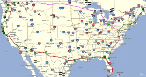 USA-Four-Corner-Motorcycle-Tour-Map