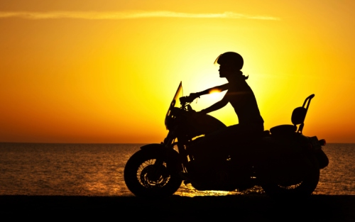Motorcycle-sunset