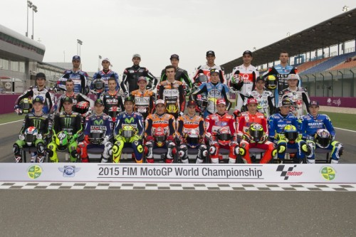 The 2015 MotoGP racers (c) MotoGP