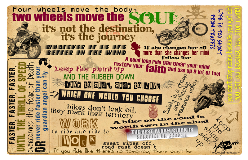 Motorcycle Quotes Poster